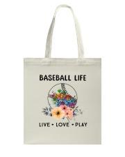 Baseball Life Live Love Play Tote Bag thumbnail
