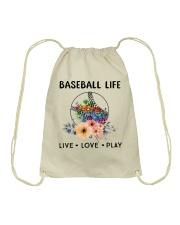 Baseball Life Live Love Play Drawstring Bag thumbnail