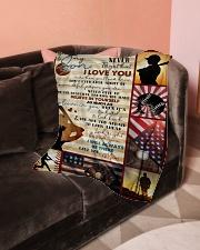 "Baseball Funny I Love You Son Graphic Design Small Fleece Blanket - 30"" x 40"" aos-coral-fleece-blanket-30x40-lifestyle-front-05"