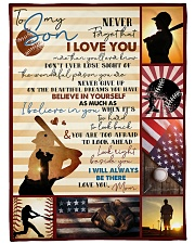 "Baseball Funny I Love You Son Graphic Design Large Fleece Blanket - 60"" x 80"" front"
