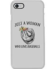 A Woman Loves Baseballs Phone Case thumbnail
