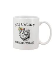 A Woman Loves Baseballs Mug thumbnail
