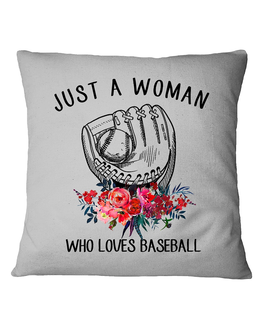 A Woman Loves Baseballs Square Pillowcase