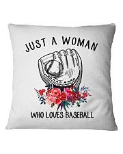 A Woman Loves Baseballs Square Pillowcase thumbnail