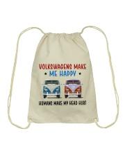 VWGs Make Me Happy Drawstring Bag thumbnail