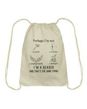 I'm A Reader Drawstring Bag thumbnail