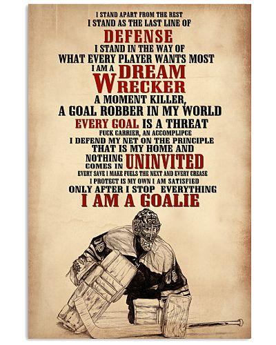 Hockey I Am A Goalie