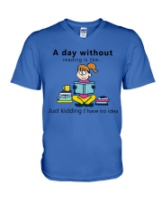 Day Without Books V-Neck T-Shirt thumbnail