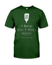 Cooking- I drink and i grill Classic T-Shirt front