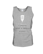 Cooking- I drink and i grill Unisex Tank front