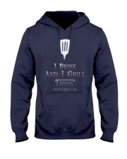 Cooking- I drink and i grill Hooded Sweatshirt thumbnail
