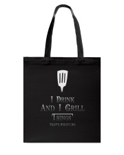 Cooking- I drink and i grill Tote Bag thumbnail