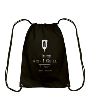 Cooking- I drink and i grill Drawstring Bag thumbnail