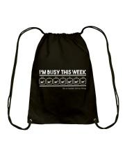 Scuba Diving Busy This Week Drawstring Bag thumbnail