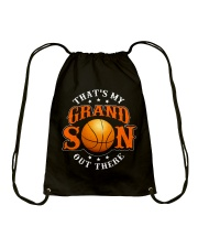 That's my grandson out there Drawstring Bag thumbnail