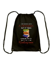 Books Grandma Drawstring Bag thumbnail