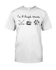 Hockey Coffee and Dogs Classic T-Shirt thumbnail