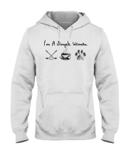 Hockey Coffee and Dogs Hooded Sweatshirt front