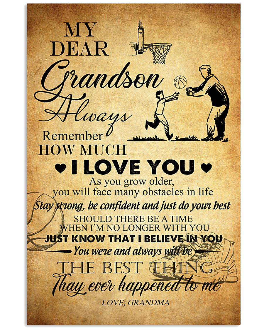Basketball My Dear Grandson Love You 11x17 Poster