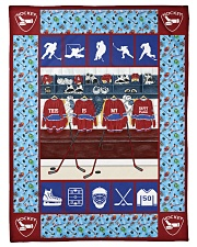 "Hockey Funny This Is My Happy Place Graphic Design Small Fleece Blanket - 30"" x 40"" front"