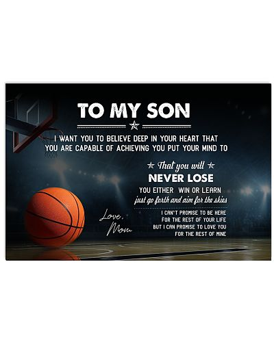 Basketball Son-Mom I Want You Believe Poster