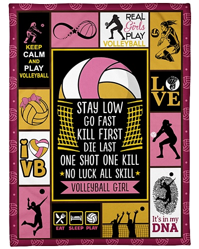 Volleyball Funny Stay Low Go Fast Graphic Design
