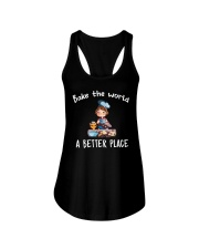 Bake The World A Better Place Ladies Flowy Tank thumbnail