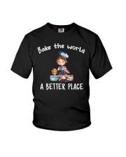 Bake The World A Better Place Youth T-Shirt thumbnail