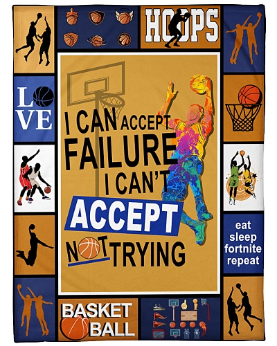 Basketball Can't Accept Not Trying Graphic Design