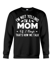 I'm A Mom Of Two Boys Mothers Day T Shirt Crewneck Sweatshirt thumbnail