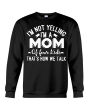 I'm A Mom Of Four Kids Mothers Day T Shirt Crewneck Sweatshirt thumbnail