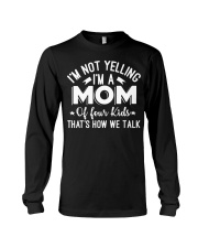 I'm A Mom Of Four Kids Mothers Day T Shirt Long Sleeve Tee thumbnail