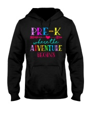 Pre K Teacher Adventure Begins Teacher Back To Sch Hooded Sweatshirt thumbnail