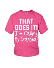 Calling Grandma Youth T-Shirt front