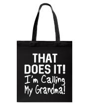Calling Grandma Tote Bag thumbnail