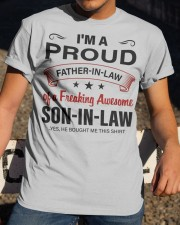 I'M PROUD FATHER-IN-LAW Classic T-Shirt apparel-classic-tshirt-lifestyle-28