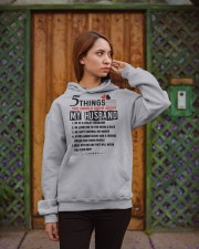5 THINGS YOU SHOULD KNOW ABOUT MY HUSBAND Hooded Sweatshirt apparel-hooded-sweatshirt-lifestyle-02