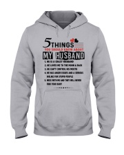 5 THINGS YOU SHOULD KNOW ABOUT MY HUSBAND Hooded Sweatshirt front
