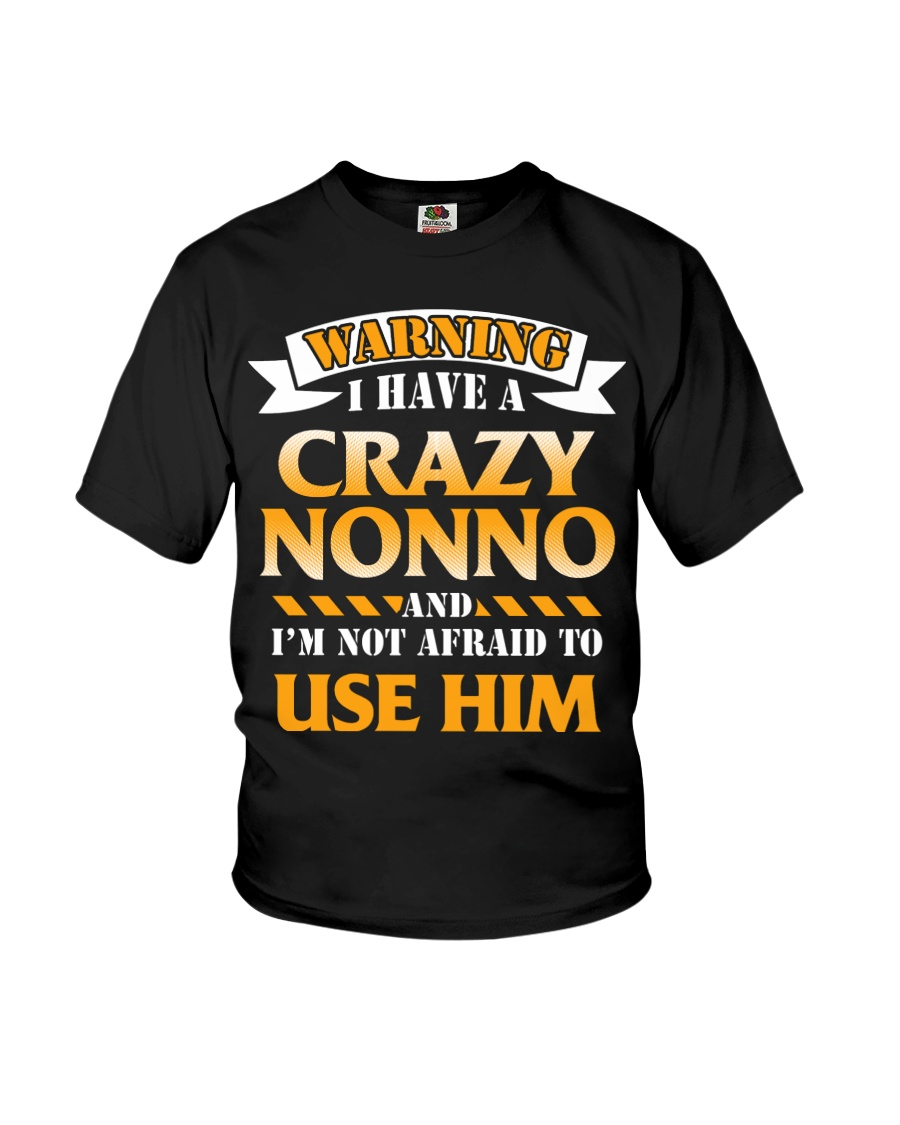 Warning Crazy Nonno Youth T-Shirt