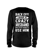 Back Off - Crazy Husband Long Sleeve Tee thumbnail