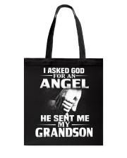God Sent Me Grandson Tote Bag thumbnail