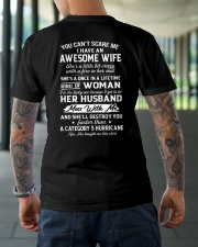 I HAVE AN AWESOME WIFE - GREAT GIFT FOR WIFE Classic T-Shirt lifestyle-mens-crewneck-back-3