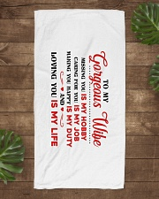 1 DAY LEFT - GET YOURS NOW Beach Towel aos-towelbeach-vertical-front-lifestyle-1