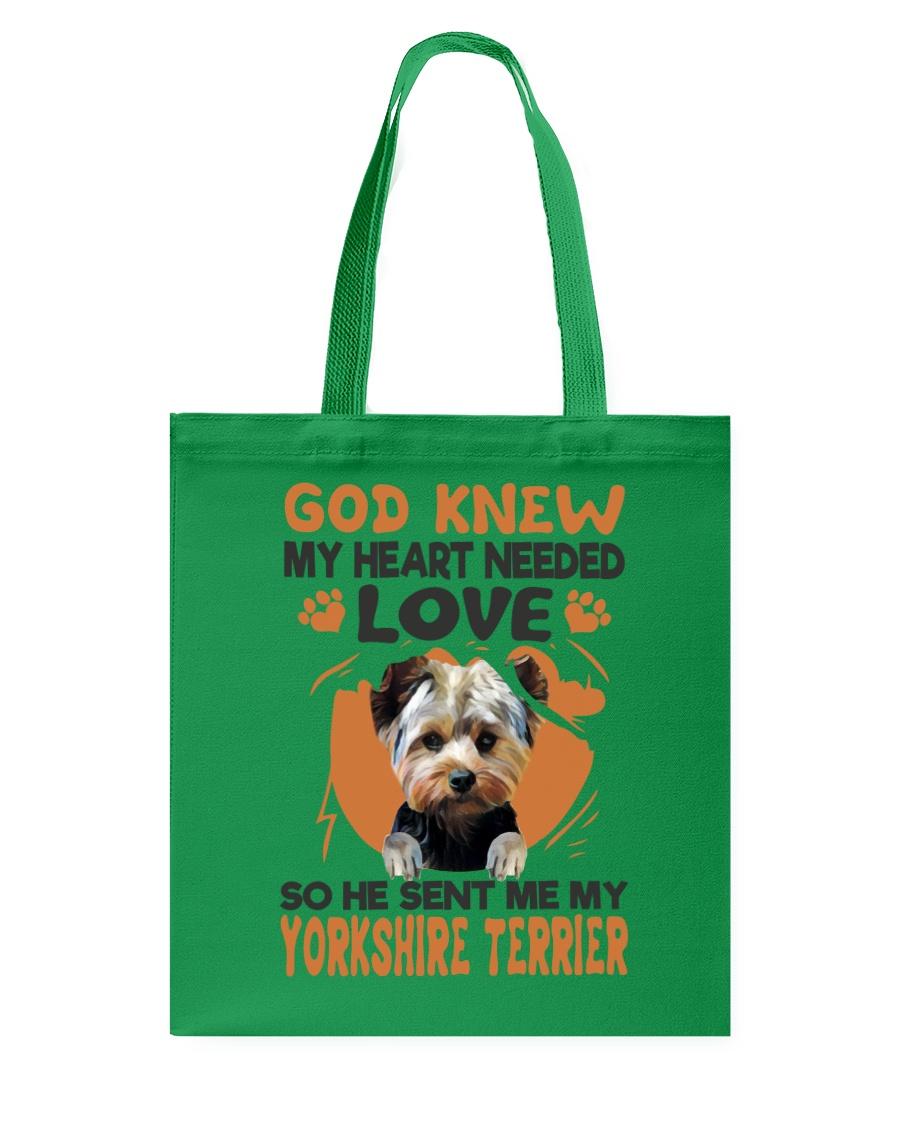GOD SENT ME MY YORKSHIRE TERRIER Tote Bag