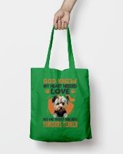 GOD SENT ME MY YORKSHIRE TERRIER Tote Bag lifestyle-totebag-front-2