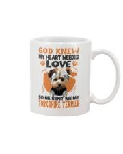 GOD SENT ME MY YORKSHIRE TERRIER Mug thumbnail
