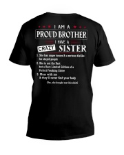 I AM A PROUD BROTHER V-Neck T-Shirt thumbnail