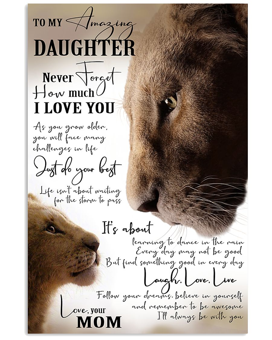 I'LL ALWAYS BE WITH YOU - GREAT GIFT FOR DAUGHTER 11x17 Poster