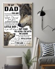 YOU ARE THE WORLD - GREAT GIFT FOR DAD FROM SON 11x17 Poster lifestyle-poster-1