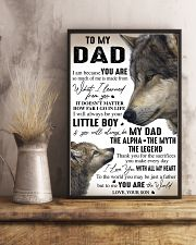 YOU ARE THE WORLD - GREAT GIFT FOR DAD FROM SON 11x17 Poster lifestyle-poster-3